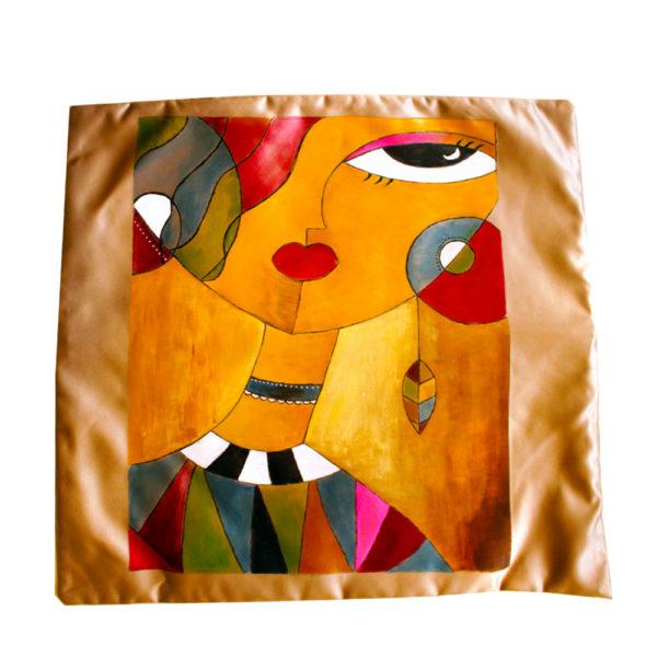 Handmade golden Cushion cover